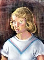 Sylvia Plath self-portrait circa 1951.